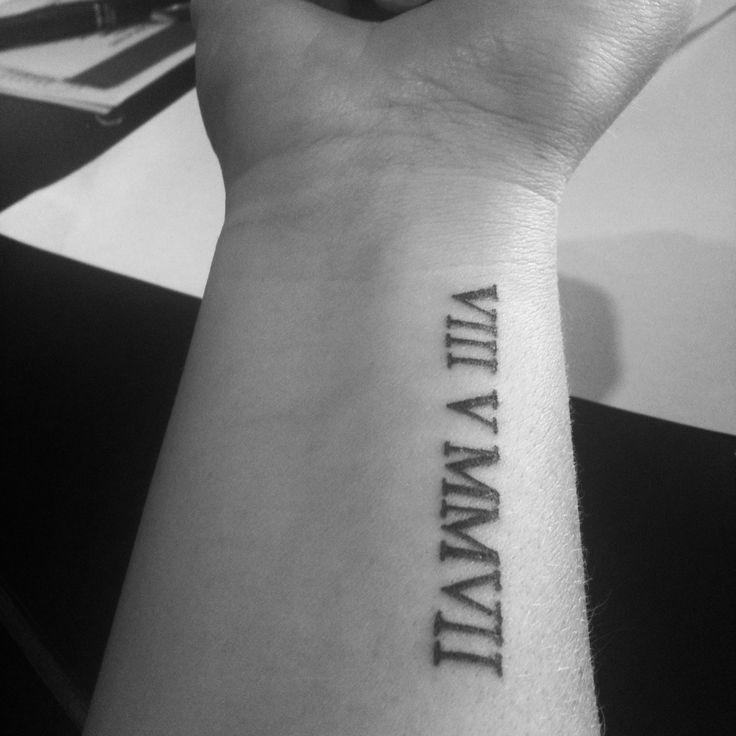 Been thinking about getting a tattoo like this. Perhaps our kid's birthdays or our wedding anniversary...