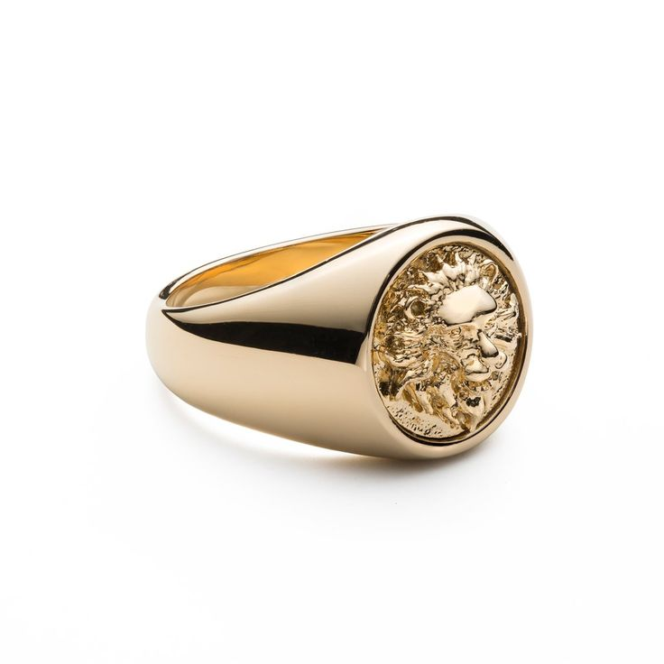 Gold lion ring High quality 14k gold plating Signature Zorrata lion face