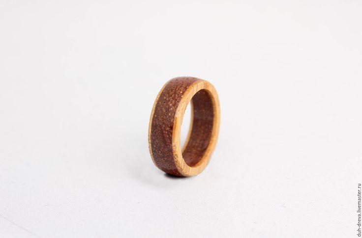 Купить Кольцо из дерева мербау и дуб - коричневый, кольцо из дерева, деревянное кольцо, деревянные украшения
