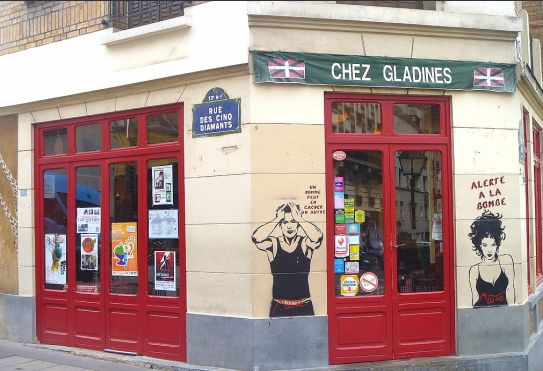 """Chez Gladines  30 rue des 5 Diamants 75013 Paris 01.45.80.70.10    Always bright, lively and loud, this is the """"original"""" Gladines. Famous for their """"dog bowl"""" salads (served in large stainless steel mixing bowls) and infamous for their Escalope de veau montagnarde (a piping hot plate piled high with potatoes, mushroom-cream sauce and large slabs of bacon-lined veal)."""