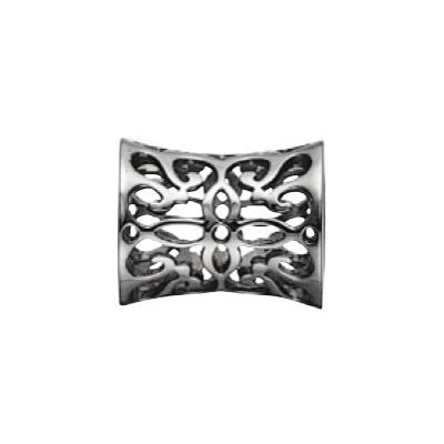 Kranz & Ziegler Story Button with Design – Rhodium Plating