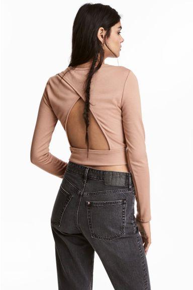 Krátka bunda - púdrová béžová - ŽENY   H&M SK