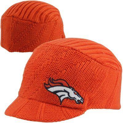 '47 Brand Denver Broncos Ladies Carrien Knit Visor Hat - Orange