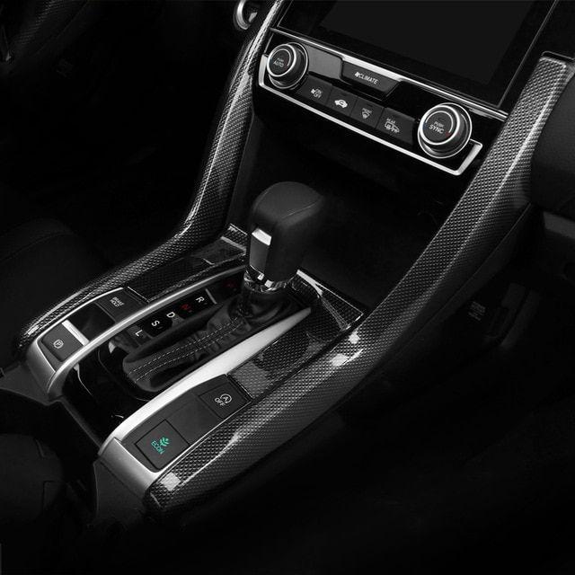 For HONDA Civic 10th 2016-2020 carbon fiber central console air outlet vent trim