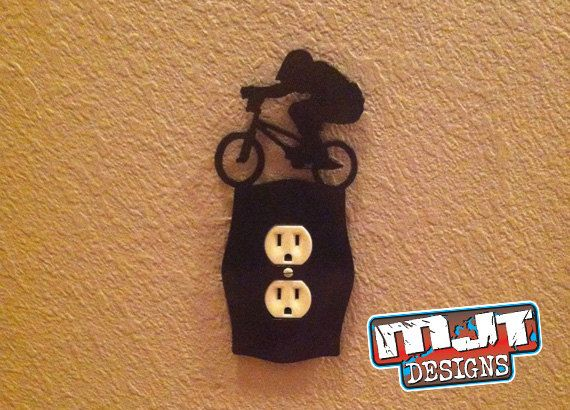 Hey, I found this really awesome Etsy listing at https://www.etsy.com/listing/172153611/bmx-rider-outlet-cover
