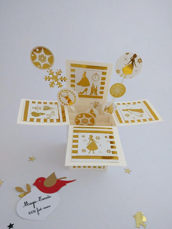 Carte boîte Pop-Up Princesse des fêtes
