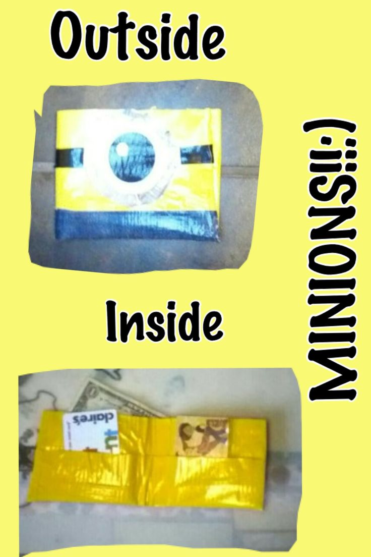 Duct tape minion wallet!!:) too cute