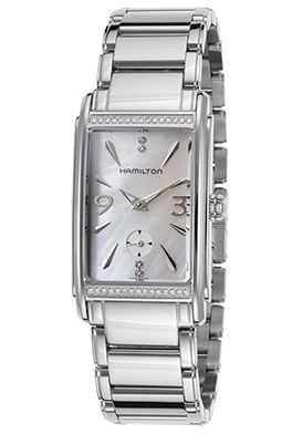 66% Off Hamilton Women's Ardmore Diamond Stainless Steel White Mother of Pearl Dial Watch