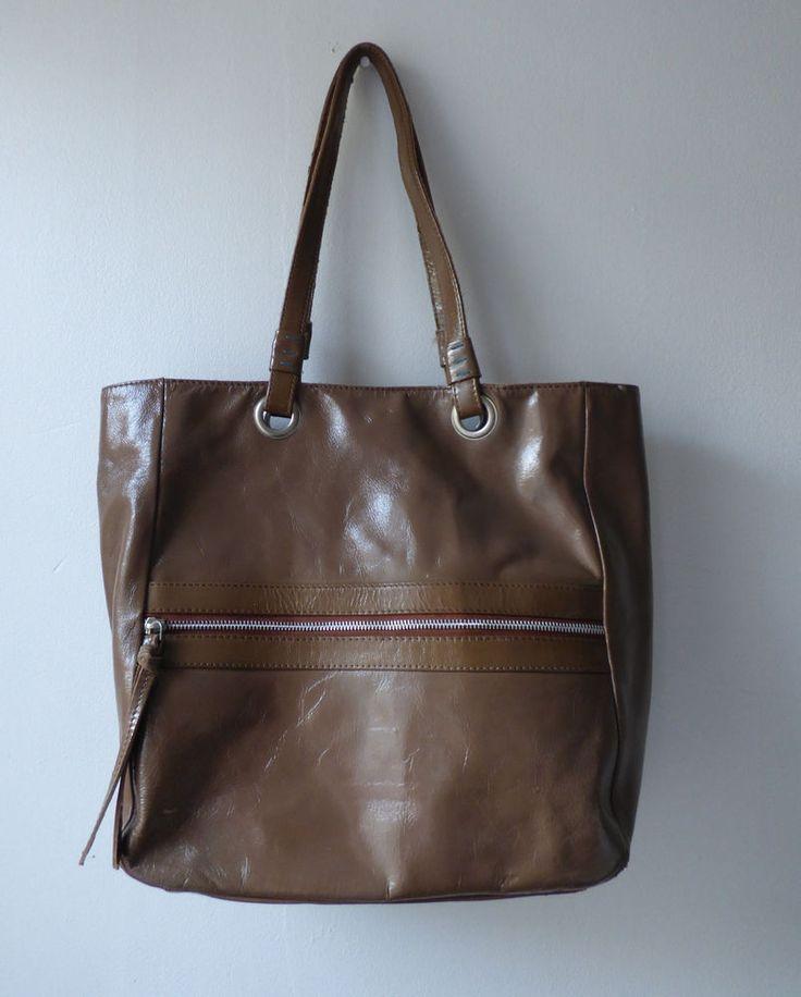 sac cuir verni marron Bensimon #Sacshopping
