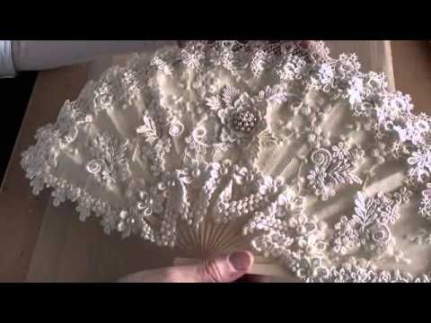 Altered Vintage lace fan - YouTube