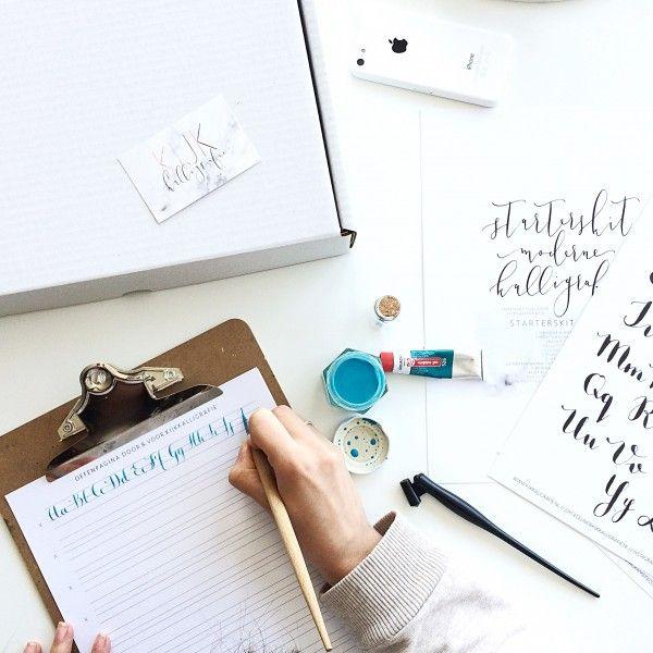 Starterskit moderne kalligrafie materialen leren kalligraferen webshop