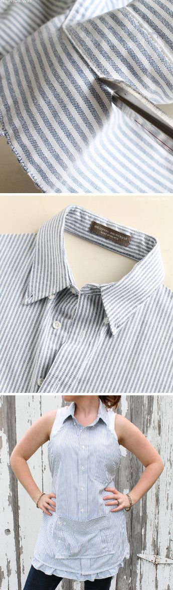 Men's Dress Shirt Apron