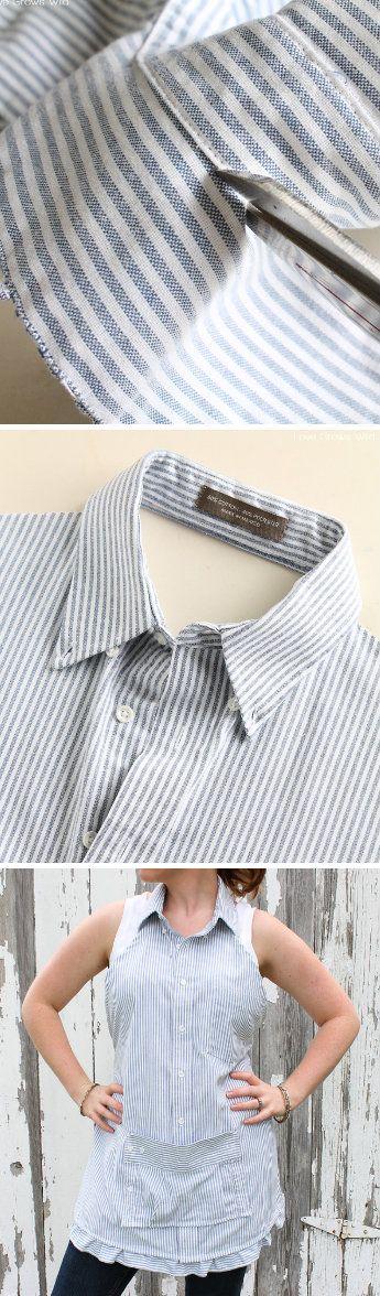 Men's Dress Shirt Apron