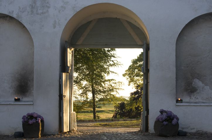 The main gate of Dragsholm Castle. Located in Odsherred Denmark.