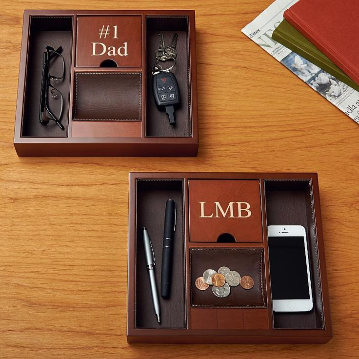 Personalized Large Wood Catchall | Personal Creations