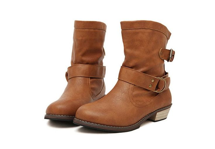 Buckle Biker Flannel Lined Boots. Just at: $53.00 Order Now: http://bit.ly/1IOBTdf