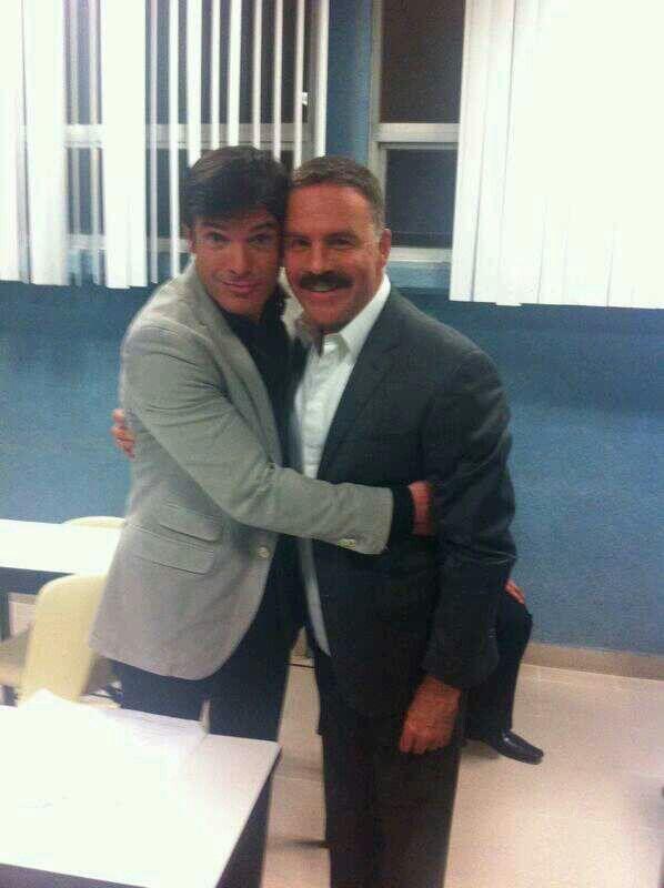 Ari Telch con el protagonista de Prohibido Amar Marco De Paula!!!