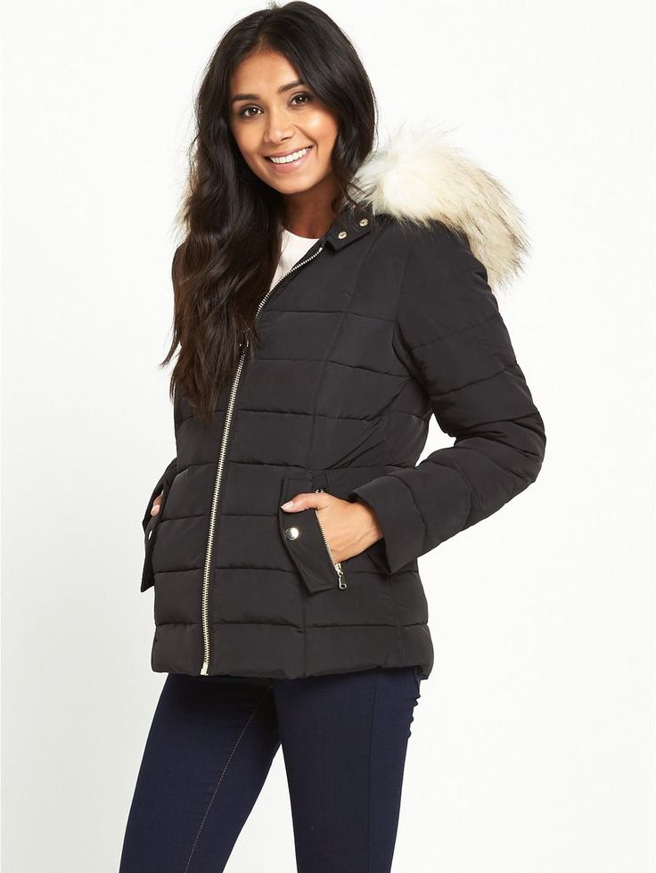 Miss Selfridge Miss Selfridge Petite Short Padded Jacket, http://www.very.co.uk/miss-selfridge-miss-selfridge-petite-short-padded-jacket/1600126416.prd
