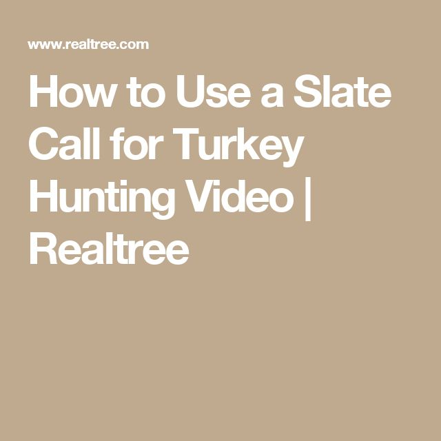 How to Use a Slate Call for Turkey Hunting Video | Realtree