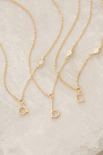 Mini Monogram Pendant Necklace - anthropologie.com