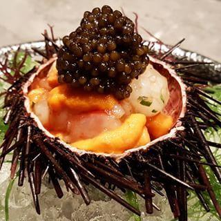 Signature Botan Shrimp with Uni and Caviar at Waku Ghin #uni #ebi #japanesefoodporn #omakase #wakughin #mbs #foodie #sgfood #sgeats #foodporn #fatshit