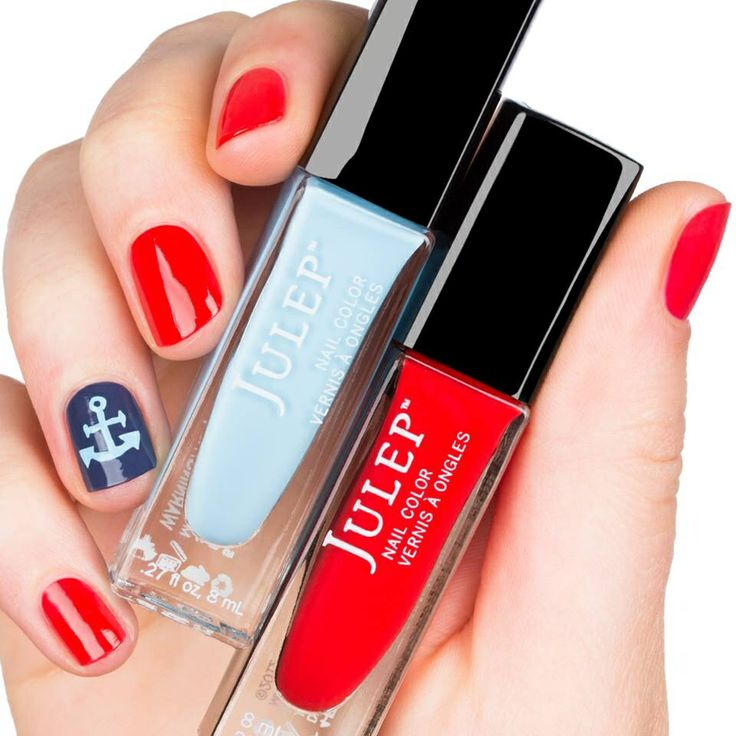 Red and blue #nails
