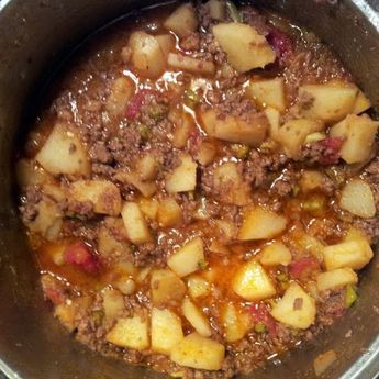 """Carne Guisada Con Papas (Meat & Potatoes)! 4.83 stars, 30 reviews. """"Excellent recommendations on the spices. I changed it up a bit to incorporate ingredients I had in my kitchen. I boiled the potatoes first for about 7-10min to speed up the process of making them tender. I browned ground beef, added the pre boiled potatoes, and instead of using tomato sauce, I opted for stewed Mexican style tomatoes, and also added a lil bit of frozen chopped broccoli. Delish! (~~)"""" @allthecooks #recipe…"""