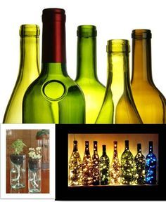 12+ Wonderful Ways How you Upcycle Wine Bottles. the cobalt shiraz bottle filled with lights will add a bit of festive touch to your home; the green chardonnay bottle could look great in your garden ... click to see fountain of possibilities.
