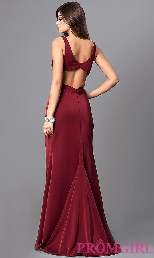 97a8a286866 Image of v-neck prom dress with open back by Faviana. Style  FA-7954 Back  Image
