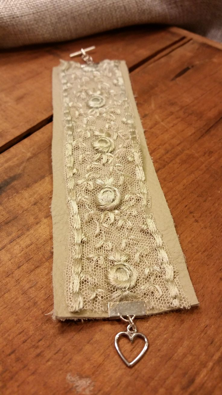 Leather and Lace Cuff Bracelet                                                                                                                                                      More