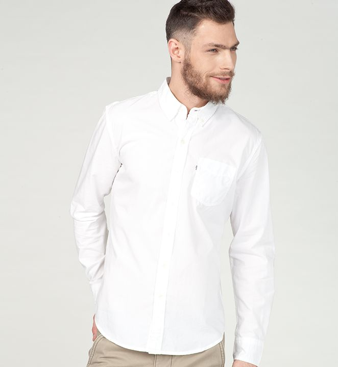 #liveinlevis #levis #men #mencollection #onlinestore #online #new #newcollection #newarrivals #fw15 #fallwinter15 #shirt #white #whiteshirt