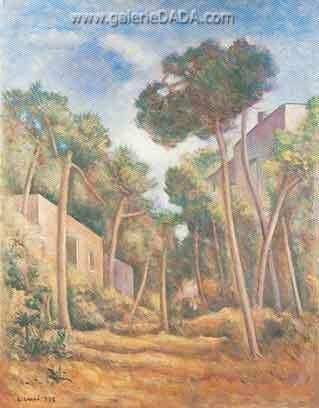 Carlo Carra,  Pineta Fine Art Reproduction Oil Painting