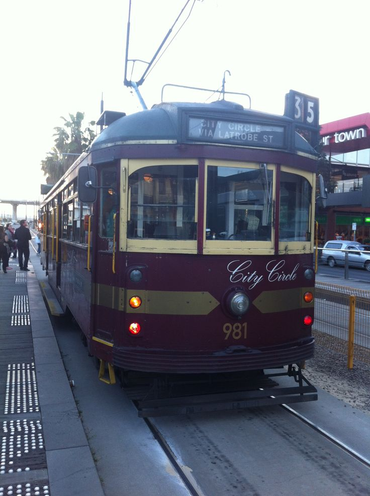 City Circle Tram. Melbourne, Victoria, Australia This is fare free tram that circles the city of Melbourne..great way to get around for free!!
