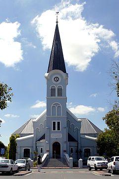 NG gemeente Kuilsrivier - Die NG kerk Kuilsrivier. Dis ontwerp deurFolkert Wilko Hesse en ingewy op 29 November 1904.
