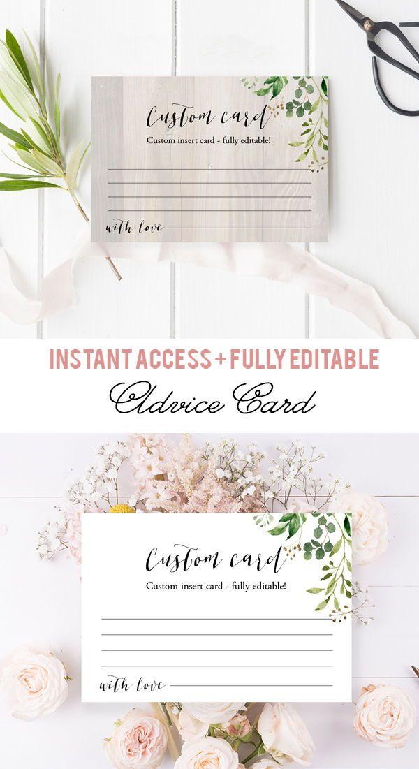 Greenery Bridal Advice Cards Greenery Date Night Ideas