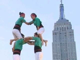 Catalonian human towers in New York