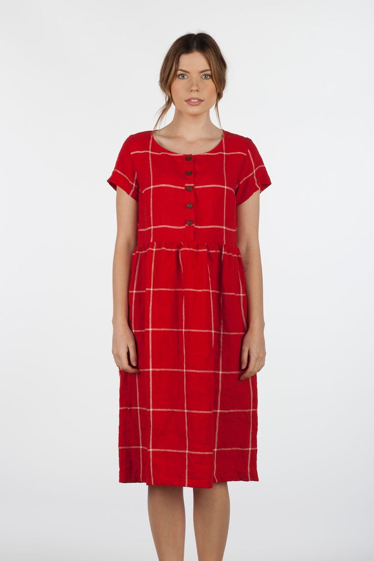Linen-Cardinal-Red-Buttons-Short-Sleeve-Midi-Length-Dress-Model-No-11-Pyne-&-Smith-01.jpg