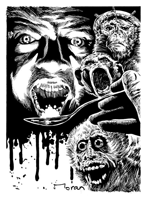 "Interior artwork for ""Mouthful."" Artwork by Rob Moran.  ""Just when I thought I had seen it all in horror novels, along comes, Stuck On You. The central premise... is truly horrifying, ... in a grotesques sort of way it is also quite amusing. Stuck On You is one hell of a wild ride that is as sexy as it is horrifying... highly recommended."" – Horror World  http://getbook.at/JasperPrimeCuts"