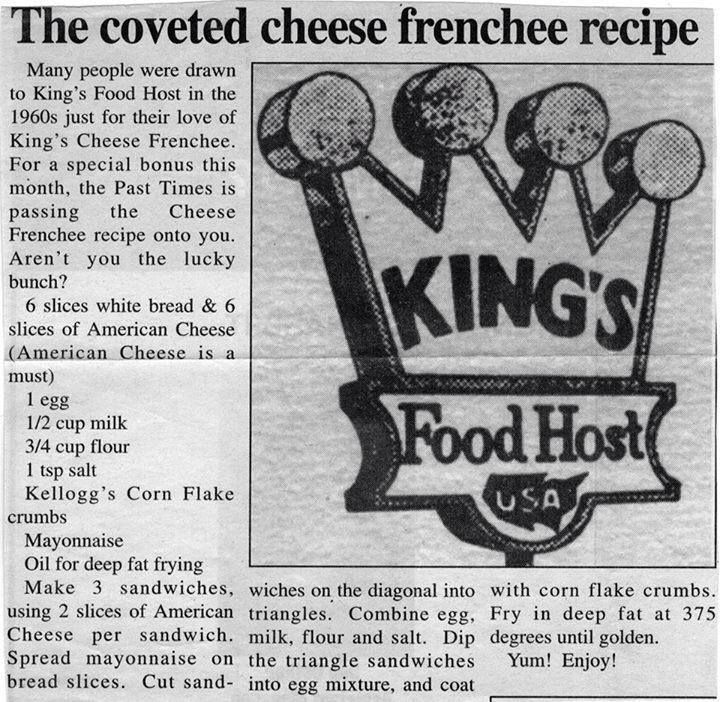 King S Food Host Cheese Frenchee Recipe
