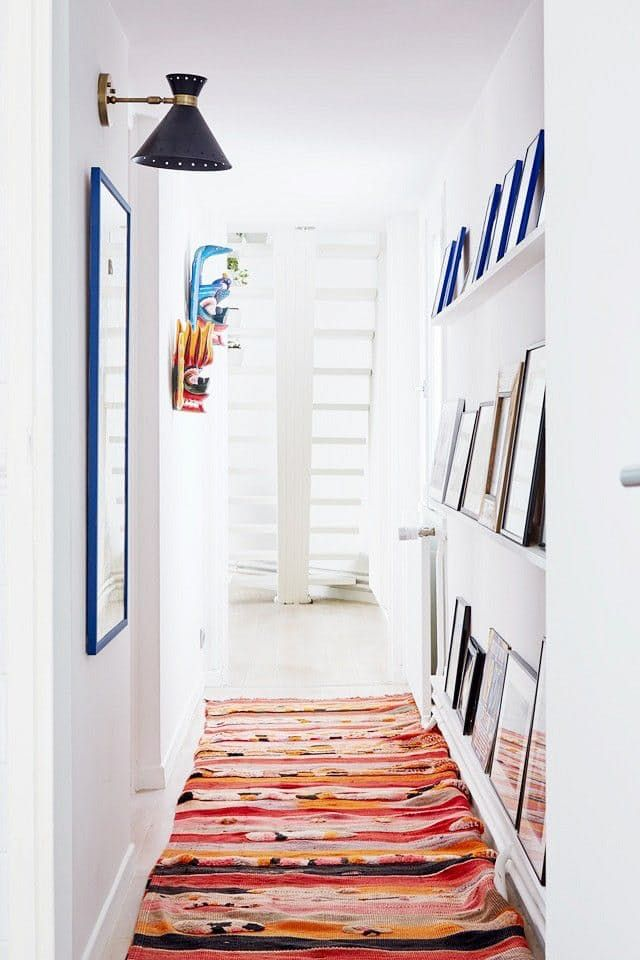 ledges for books and/or artwork