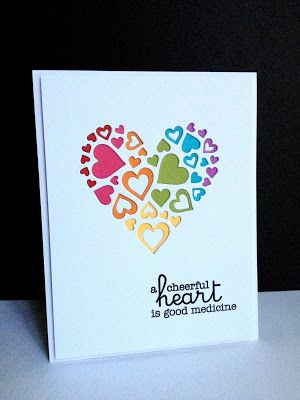 Sweet Cut-Out Hearts Card...I'm in Haven: Hearts Aren't Just for Valentine's…
