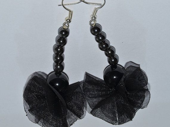 Drop earrings silver plated earring hoops