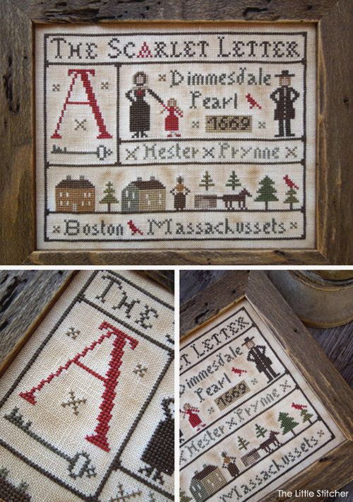 The Scarlet Letter PDF Digital Cross Stitch by LittleStitcherShop, $11 ...