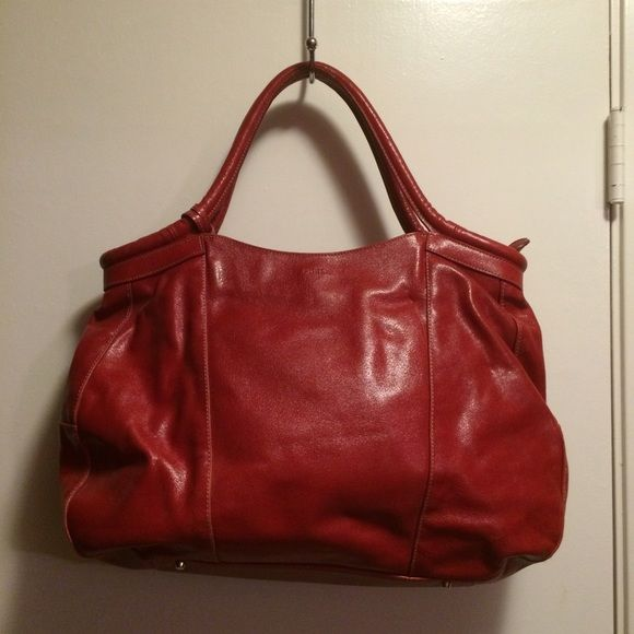 furla handbag red large tote like new in great condition no flaws authenticfinal sale price. Black Bedroom Furniture Sets. Home Design Ideas