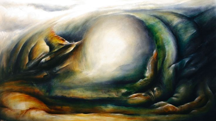 """Shrouded Deviation"" by Daniel Rigos. Abstract Surreal Landscape Oil Painting for Sale on Bluethumb - Online Art Gallery, Australia. 152cm (W) x 86cm (H) - $1750 AUD"