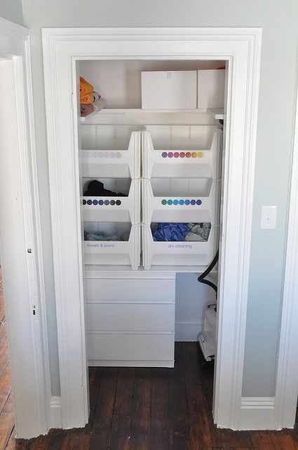 Laundry Room Idea Clever Color Coded Sorting System
