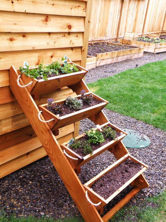 "36"" Cedar Herb, Tomato, Flower, and Strawberry gardening window box planter - Free Shipping. $52.70, via Etsy."