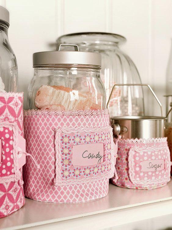 DIY-Anleitung: Gläserhülle mit Platz für Etikett nähen via DaWanda.com