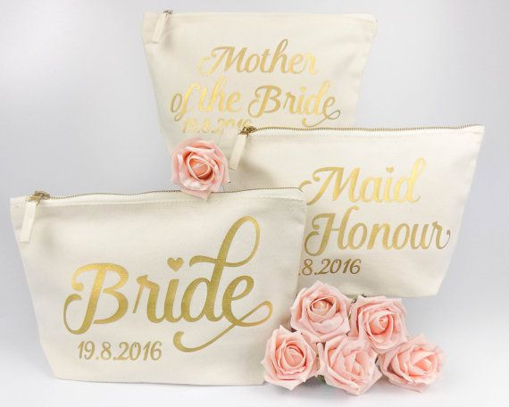 Bride Gift Personalised Make Up Bag Or by ThePersonalWeddingCo