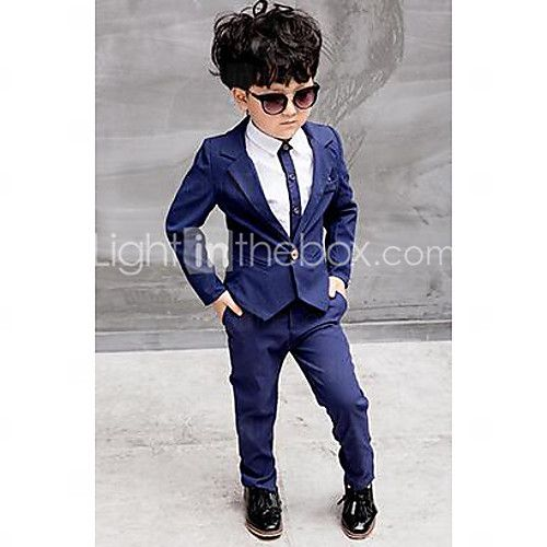Boy's Formal Solid Shirt / Suit